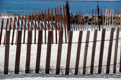 Dune Fences Royalty Free Stock Images