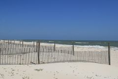 Dune Fences on the Beach Stock Image