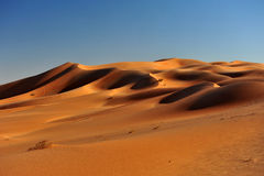 Dune formations in Rub al Khali Royalty Free Stock Photo