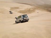 Dune frappant dans le désert Image stock