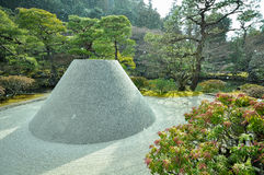 Dune in Ginkakuji Temple, Kyoto, Japan Royalty Free Stock Images