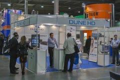 DUNE HD satellite digital equipment booth Stock Images