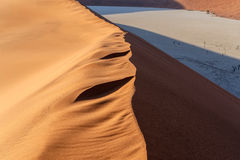 Dune in Hidden Vlei in Namib desert Royalty Free Stock Image