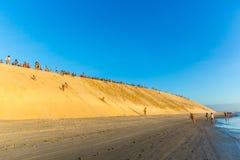 Dune Jericoacoara de coucher du soleil image libre de droits