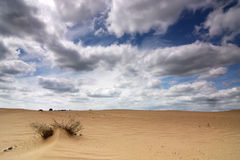 Dune landscape with clouds Stock Photography