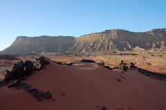 Dune landscape in Crater Ramon. Stock Photography