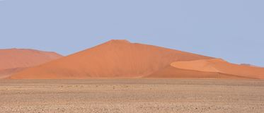 Sossusvlei Landscape. A dune landscape from Sossusvlei in the Namibian desert stock photo