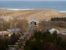 Dune lift. A lift taking visitors to Tottori Sand Dunes - in Tottori city, Japan Stock Images