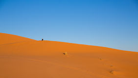 Dune and man Royalty Free Stock Images