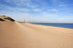 Dune on mediterranean sea coastline Royalty Free Stock Images