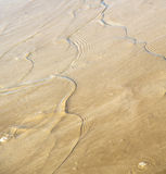 Dune morocco in africa brown coastline wet sand beach near atlan Stock Photos
