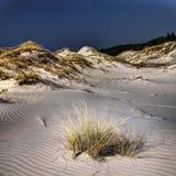 Dune muoventesi, mezzogiorno soleggiato della molla fotografie stock