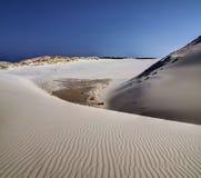 Dune muoventesi in Polonia, mezzogiorno della molla fotografie stock libere da diritti