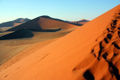 Dune in Namib Desert Stock Photo