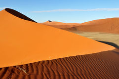 Dune in Namib desert in Namibia,Africa Stock Images