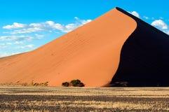 Dune 45 in Namibia. Dune in Namib Desert, Namibia stock photos