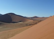 Dune 45 Namibia. The view from Dune 45 sossusvlei Namibia royalty free stock image