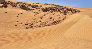 Dune nel deserto immagini stock
