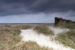 Dune orageuse Images libres de droits