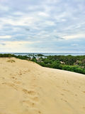 Dune of Pilat, beautiful landscape. Dune du Pilat, the tallest sand dune in Europe, located in the Arcachon Bay area, France Royalty Free Stock Images
