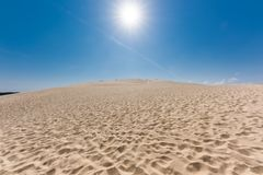 The dune of Pilat on the Arcachon Bay, France. The dune of Pilat, or Pyla, on the Arcachon Bay, is the highest sand dune in Europe. It is located a few Stock Image
