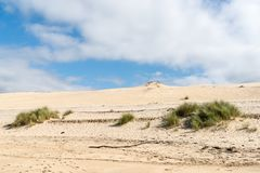 The dune of Pilat, Arcachon Bay, France. The dune of Pilat, or Pyla, in France, on the Arcachon Bay, is the highest sand dune in Europe, located a few kilometers Stock Images