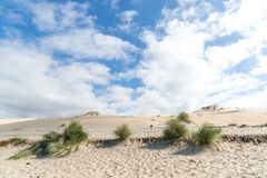 The dune of Pilat, Arcachon Bay, France. The dune of Pilat, or Pyla, in France, on the Arcachon Bay, is the highest sand dune in Europe, located a few kilometers Stock Image