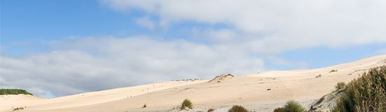 The dune of Pilat, Arcachon Bay, France. The dune of Pilat, or Pyla, in France, on the Arcachon Bay, is the highest sand dune in Europe, located a few kilometers Stock Photography
