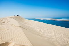 Dune of Pilat. The Dune of Pilat is the tallest sand dune in Europe stock photo