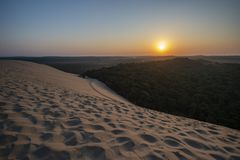 Dune of Pilate, France. the largest sandy desert in Europe stock images