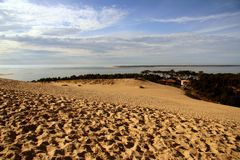 Dune of Pyla in France. View of the dune of Pyla in France Stock Photography