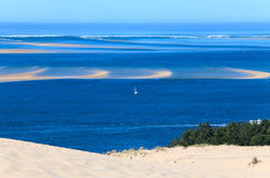 Dune of Pyla (Pilat), Arcachon Bay. View from the highest dune in Europe - Dune of Pyla (Pilat), Arcachon Bay, Aquitaine, France Stock Photography