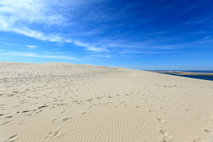 Dune of Pyla (Pilat), Arcachon Bay. View from the highest dune in Europe - Dune of Pyla (Pilat), Arcachon Bay, Aquitaine, France Royalty Free Stock Images