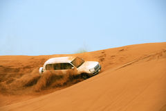 Dune race. Off road race in the desert Royalty Free Stock Images