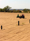 Dune Racing Family. Dune racing runs in the family at Little Sahara State Park in northwestern Oklahoma Stock Image