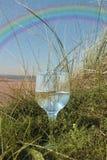 Dune rainbow water Stock Image