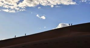 Dune rampicanti di Sossusvlei in Namibia fotografie stock