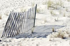 Dune Stabilization Fence Stock Photography