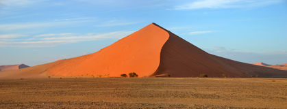 Dune 45. Is a star dune in the Sossusvlei area of the Namib Desert in Namibia Stock Image