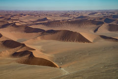 Dune 45 view from the air, Namib Naukluft national park stock photo