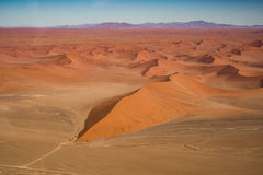 Dune 45 view from the air, Namib Naukluft national park Stock Image