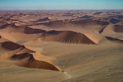 Dune 45 view from the air, Namib Naukluft national park Stock Photos