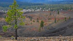 Dune vulcaniche colorate immagine stock libera da diritti