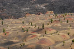 Dune vulcaniche colorate fotografie stock