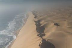 Dune wand at the Sceleton coast. Namibia, Africa royalty free stock photo
