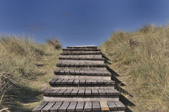 Dune way. To go to the beach Royalty Free Stock Images