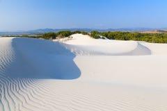 Dune of white sand Stock Photo