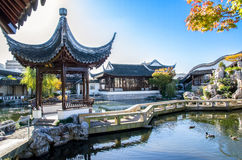 The Dunedin Chinese Garden design which is located in Dunedin,New Zealand. Royalty Free Stock Photography