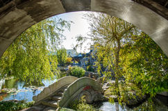 The Dunedin Chinese Garden in New Zealand. Royalty Free Stock Photos