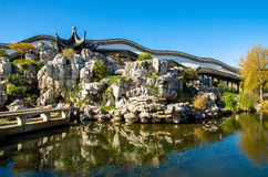 The Dunedin Chinese Garden in New Zealand. Stock Photography